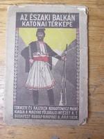 Katonai térkép1909./ The Military Map of the Northern Balkans.1909.