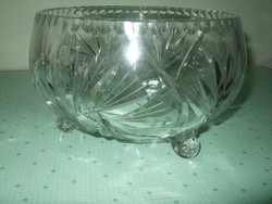 Régi kristály asztal közép