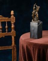 Mitológiai bronz szobor: Herkules és Diomedes harca