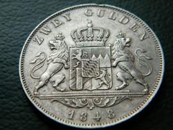 Ezüst 2 Gulden  1848  R