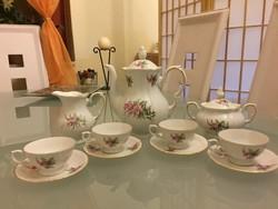 Régi gyönyörű porcelán kávéskészlet