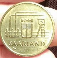 1954. Saarland, 20 Frank.