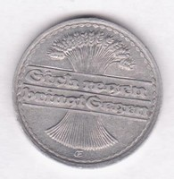 1920. DR. 50 Pfennig, E verdejel, ritkább.