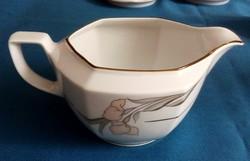 Porcelán kiöntő, mártásos, Winterling, elegáns mintával, dús aranyozással 5 dl