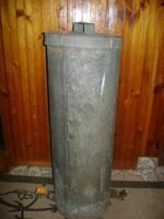 Régi bádog vagy horganyzott lemez nagy méretű tároló edény - kertbe, pl. esővíznek