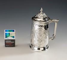 Olasz ezüst fedeles kupa