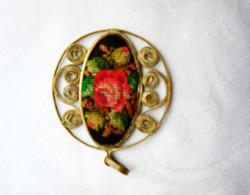 Gyönyörű, antik filigrán mikrogobelines medál