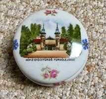 Héviz Gyógyfürdő bonbonier Viktória porcelán jelzett,számozott.1920-ból
