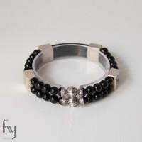 Onyx Bracelet Duo