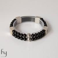 Onyx Gemstone Bracelet Duo 1