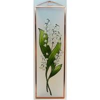 Gyöngyvirág - Virágok - Kézzel festett üveg