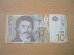 SZERBIA 10 DINÁR 2006 AG
