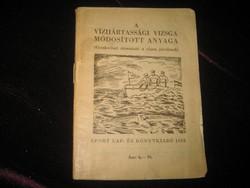 Vizijártassági  vizsga 1958           60 oldalon