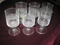 Boros poharak  a 70 es évekből  ,használva nem volt 1dl
