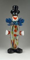 0Q027 Nagyméretű muranoi fújt üveg bohóc 28 cm