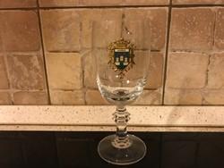 Címeres pohár 16,5 cm. KOMÁRNO, Komárom