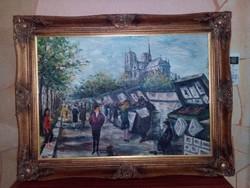 Fritz Flinte Párizsi Látkép /Leárazva/