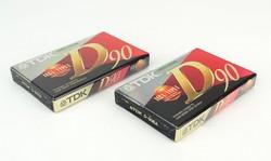 0P970 TDK D90 audio kazetta 2 darab BONTATLAN