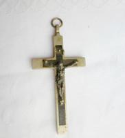 Antik ezüst színű keresztény kereszt, feszület medál