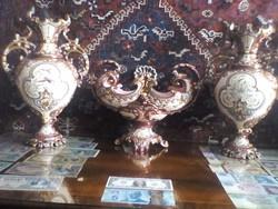 Majolika  váza garnitura