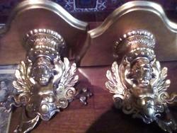 Aranyozott fali konzol pár