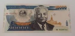 Laosz 10 000 kip 2002 unc.