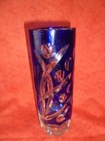 Art deco csiszolt üveg váza