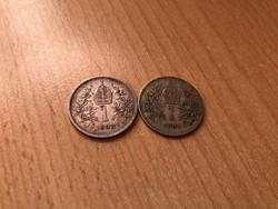 1893,94 ezüst 1 korona