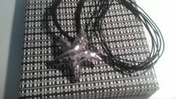 Izraeli ezüst nyaklánc (nyakék) és medál