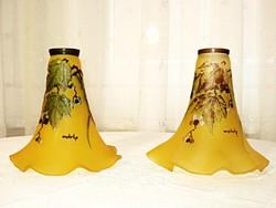 2 db szecessziós kámeaüveg fali vagy asztali lámpabúra