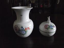 Herendi váza és bonbonier.