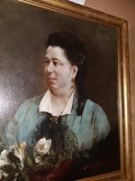 Karlovszky Bertalan (Női Portré Páris) Gyűjtői Kiárusítás