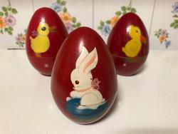 Szétcsavarható, antik bakelit tojás kollekció Húsvétra
