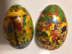 Retro nagyméretű papírmasé húsvéti tojás eladó