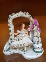 Alba Julia kézzel festett porcelán figura