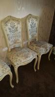 Antik barok rokoko Warrings 8 darab szék