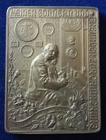 Johann Schwerdtner: Önarckép plakett, 1897