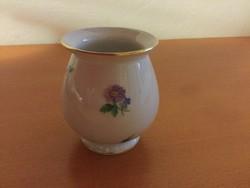 Herendi kis váza, virágdekorral, 1940-as évek