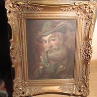 GY2 Szignózott portré olaj vászonra blondel keretben látható képméret 28x23 cm