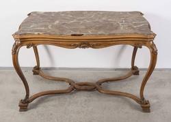 Neoklasszicista asztal márványlappal