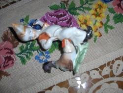 Fiú kakassal herendi porcelán
