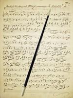Antik Karmesterpálca 38cm Karmesteri Pálca 1910-20 Dirigens Vonó