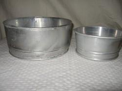 Fém - 2 db - szita - alumínium  - 20 x 9 cm - 14 x 7 cm hibátlan  - kreatív célra is tökéletes