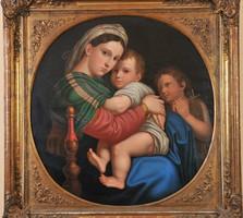 "Raffaello után ""Rausch"" 1862, Madonna della Sedia, Olaj, vászon"