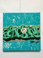Graffiti festmény vászonon