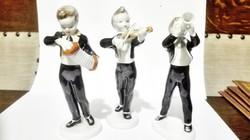 Holloházi porcelán a 3 zenész figura .(ajándéknak?).