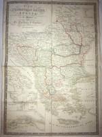 /1828/ Térkép/Karte vom  Türkischen Reiche in Europa/  nebst den angrénzenden Ländern, entworfen von