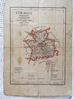 Térkép/ Győr Megye közigazgatási Térképe Hivatalos adatok alapján rajzolta Hátsek Ignácz m.k. térkép