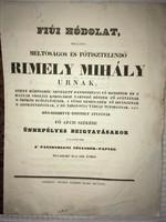 /1843/Rimely Mihály Urnak,Fő Apáti Székbe Ünnepélyes Beigtatásakor Tisztelge A Pannonhegyi Növendé