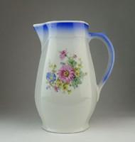 0Q083 Régi virágos porcelán vizeskancsó 22 cm